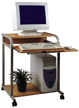 "STS-5801 24"" Compact Computer - Laptop Desk or Printer multiuse cart"