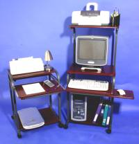compact narrow mini computer desk with hutch