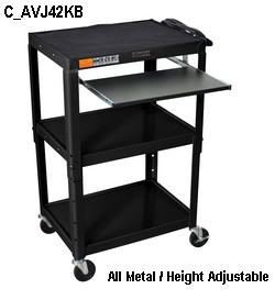 avj42kb mobile portable computer cart for school, classroom, medical health care, hospital, call center, industry or even small home office.