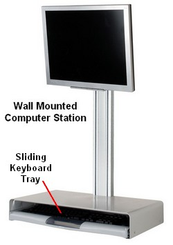 D Mw132 Wall Mounted Computer Desk Floating Computer