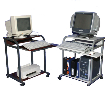 5801 computer carts in various colors