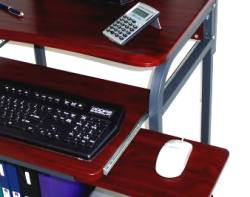 24 inch compact computer desk with printer shelf