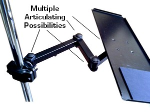 wall mounted keyboard tray; pole mounted keyboard tray; keyboard wall arm; keyboard pole arm & tray