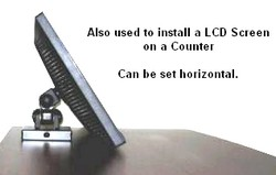 lcd monitor mount on a counter POP applicaction