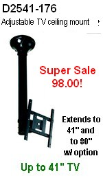 Adjustable LCD Ceiling Mount - Heavy Duty, extends to 40 and 80