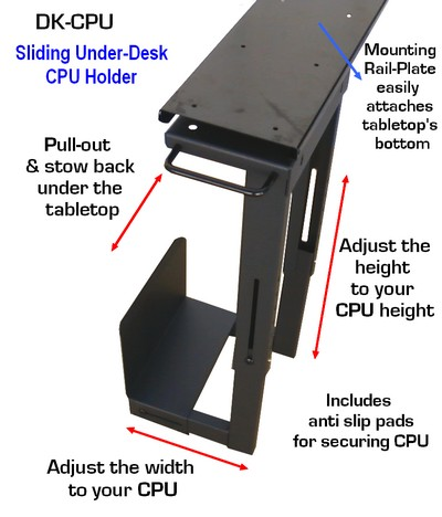 Securely Attach Your Computer Cpu Tower Unit Under Any Table Or Desk With The Sufficient Clearance Save Valuable E On Clear Up Floor