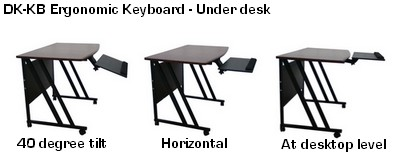 ergonomic adjustable keyboard tray platform under desk