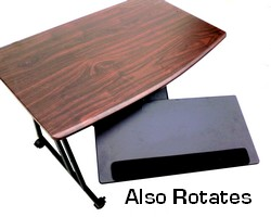 height adjustable tilt keyboard tray platform - slide under desk and rotates