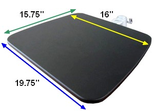 pole shelf: attach a shelf for a printer to a 35 mm pole
