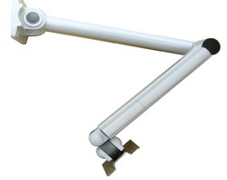 adjustable articulating cantilever lcd monitor wall arm. Folding white lcd arm - Hospital LCD Arm