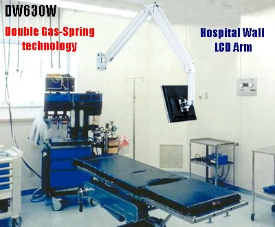 Dw630w 63 Quot Long Hospital Lcd Over The Bed Arm Wall Mount