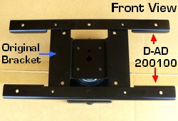VESA 200x100 adapter plate extender interphase