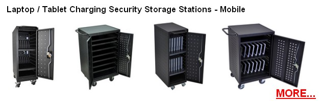 Laptop / Tablet Charging and Storage Stations; Security lockable laptop cabinets; Multiple Laptops Charging Lockable stations