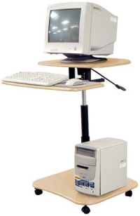 hydraulic height adjustable computer desk sit stand