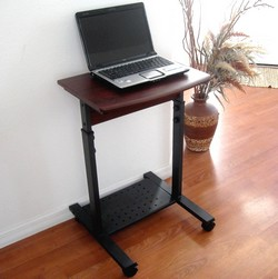 narrow, small, compact laptop computer desk stand