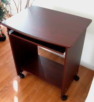 """SW2718 26"""" W. Narrow Compact Computer Desk w/ Mouse Tray"""