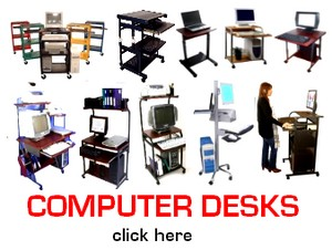 computer desks, computer furniture, computer carts, compouter tables, office furniture, small, narrow, compact mobile computer desks, carts, portable workstations, laptop tables, downview computer desks, corner desks, not available at walmart, target, costco, office max, staples, office depot, amazon