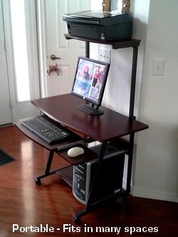 S40 40 Computer Desk with Tower Printer Shelf